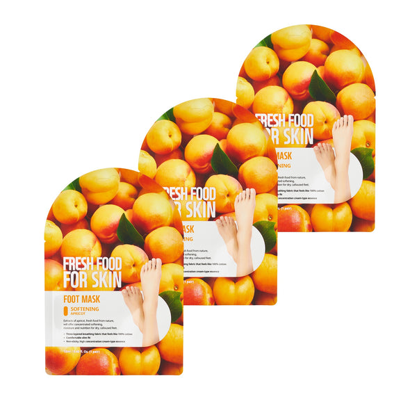 Fresh Food For Skin Softening Foot Mask Set (Apricot Softening)