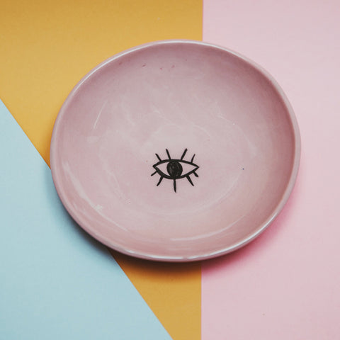 Pink Small Bowl/Eye