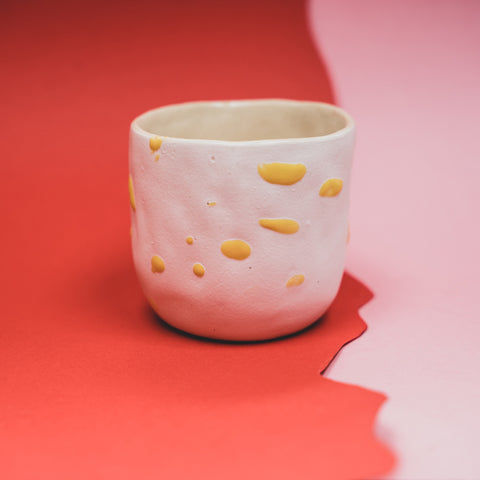 White and Yellow Cup
