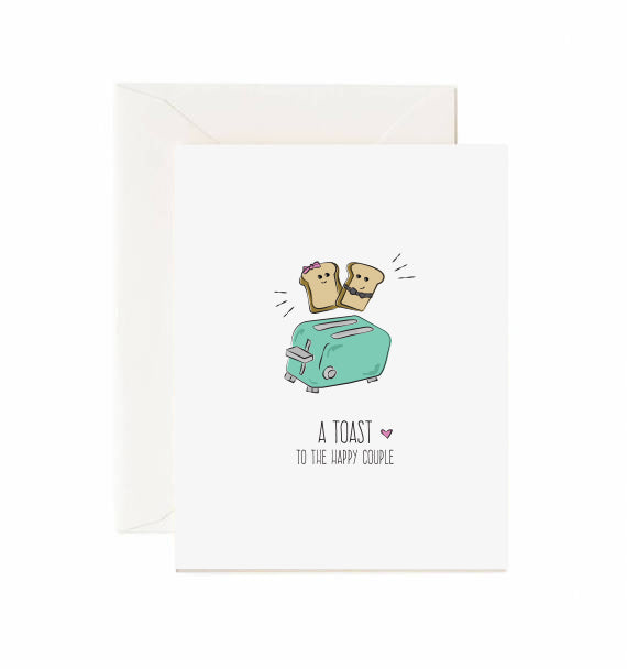 Toast to the happy couple - Greeting card