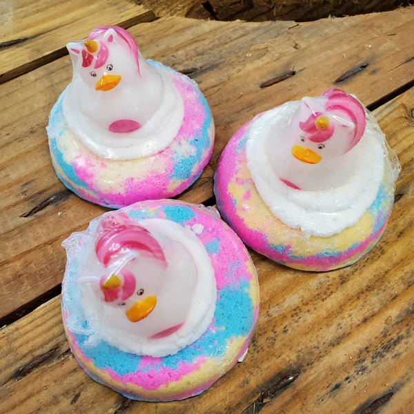 Unicorn Rubber Duck Bath Bomb - BubbleGum