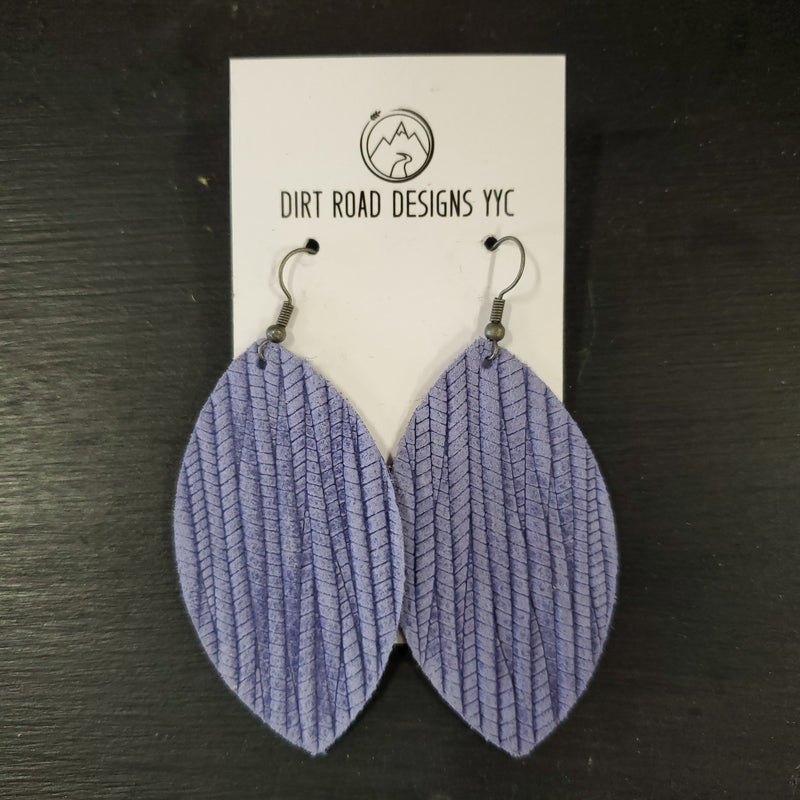 Textured Leather Earrings