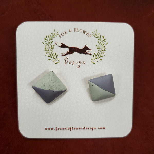 Concrete Square Earrings