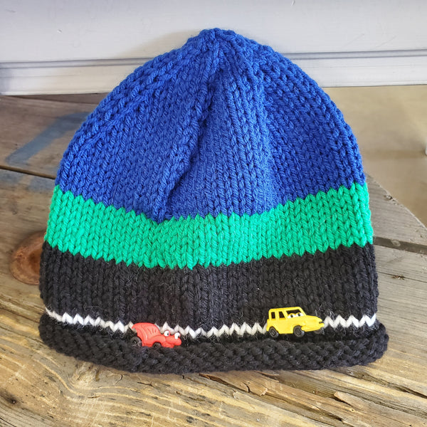Knitted Race Car Toque