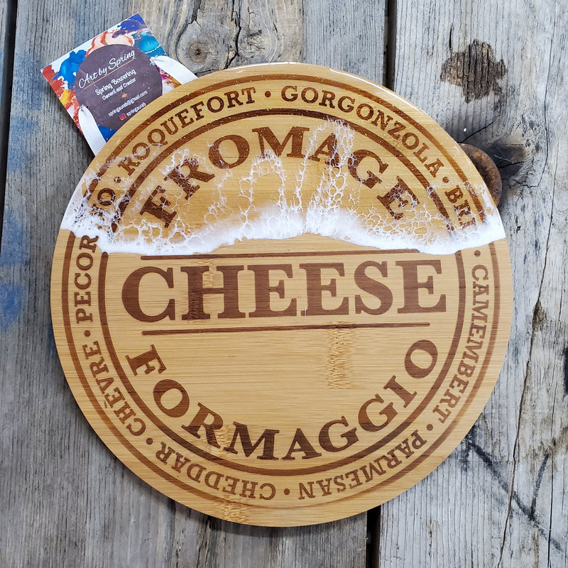 Round Cheese Board With Resin