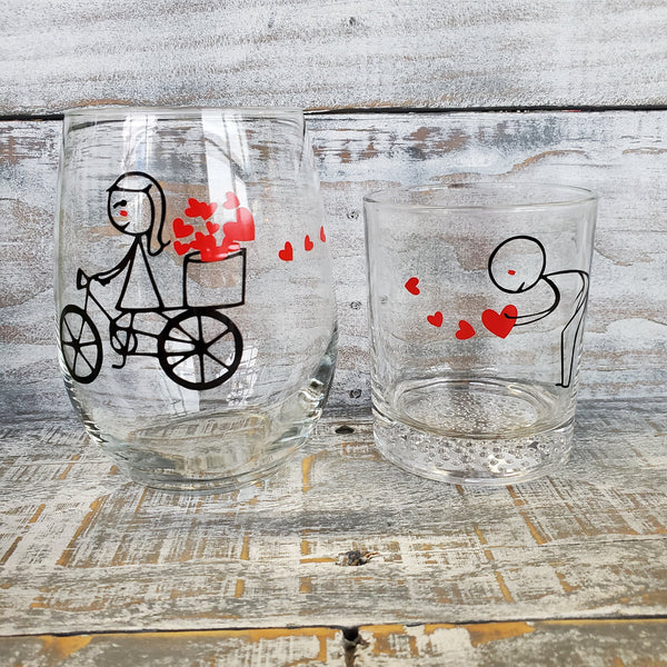 Catching Hearts Valentine's Glasses