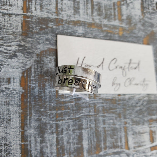 Just Breathe - Sterling Silver Wrap Ring
