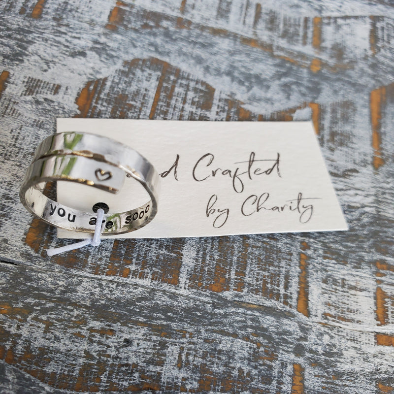You are so Loved - Sterling Silver Wrap Ring