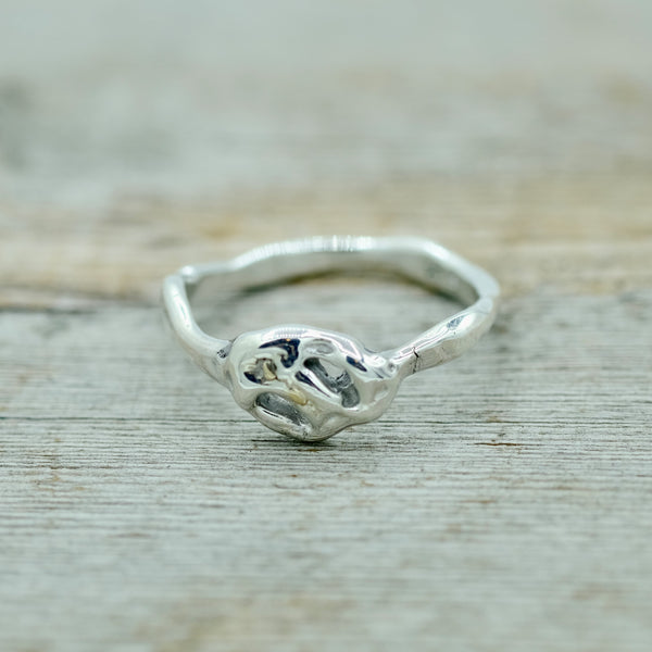 Silver/Fused Gold - All Knotted Up Ring / Size 6.5