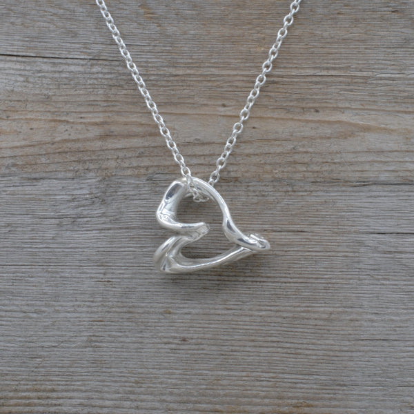 Freeform Small Heart Pendant + Chain