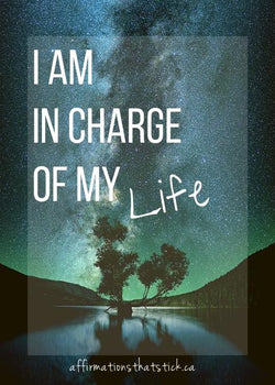 I am in charge of my life - Vinyl Sticker