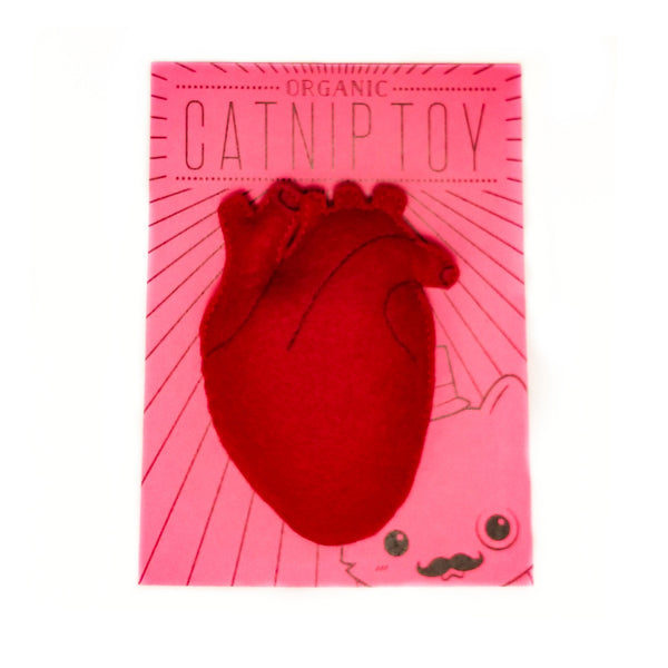 Organic Catnip Anatomical Heart Cat Toy