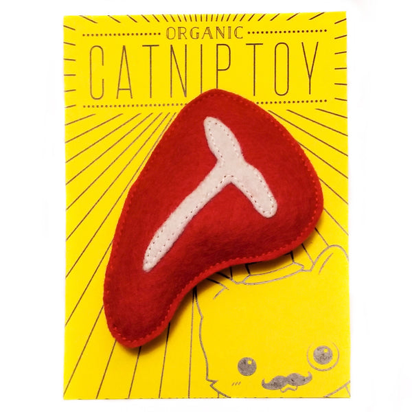 Organic Catnip 'Steak' Cat Toy