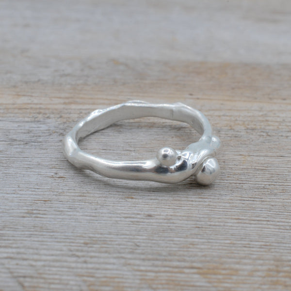 Tiny Bubbles - Silver Ring