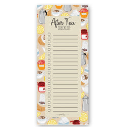 After tea checklist - Notepad