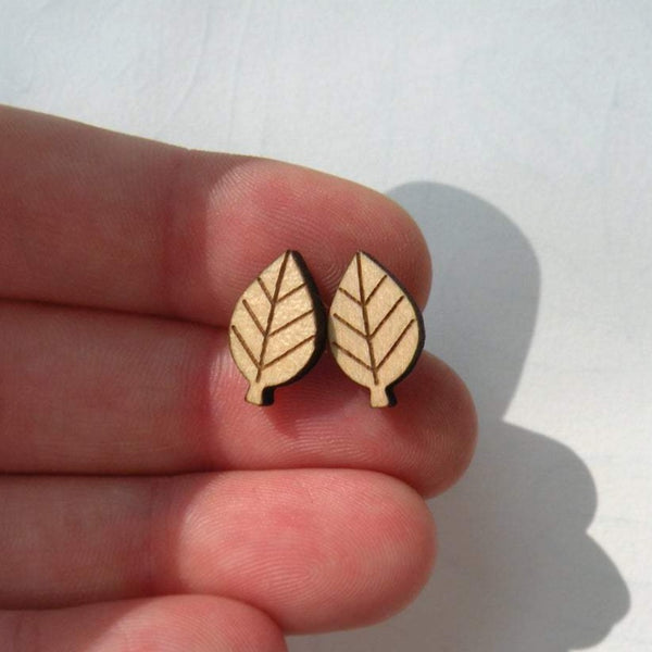 Leaves Wood Earrings