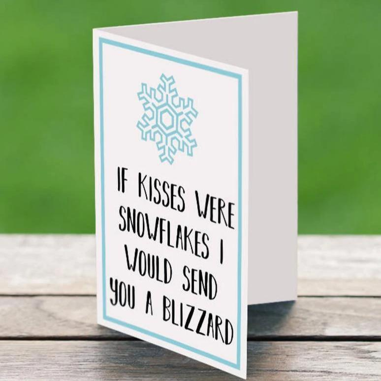 If Snowflakes Were Kisses - Greeting Card