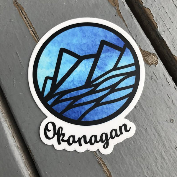 Okanagan Mountains - Vinyl Sticker