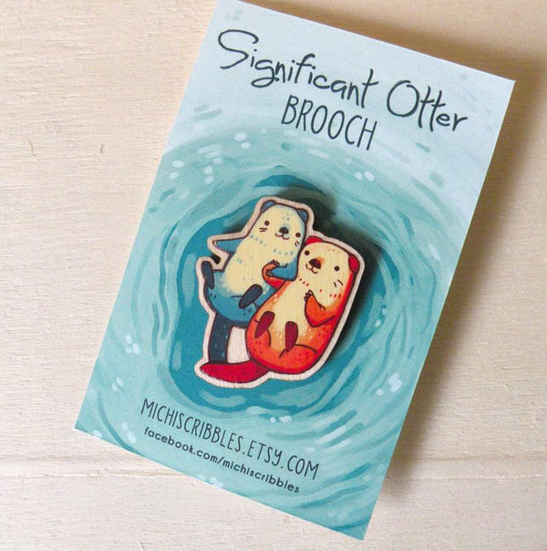 Significant Otter Brooch Pin