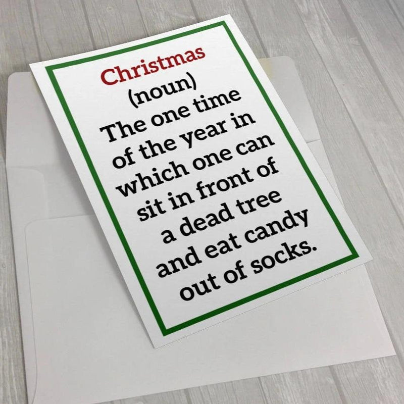 Christmas (noun) - Greeting Card