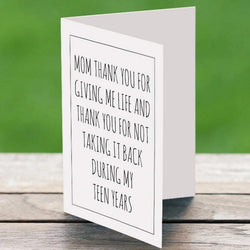 Mom Funny Thank You Card