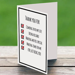 Thank You Checklist - Card