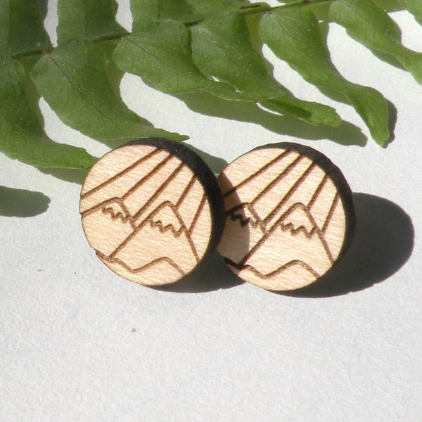 Mountain Wood Earrings