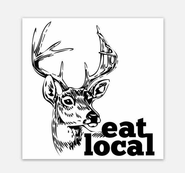 Eat Local - Square Vinyl Sticker