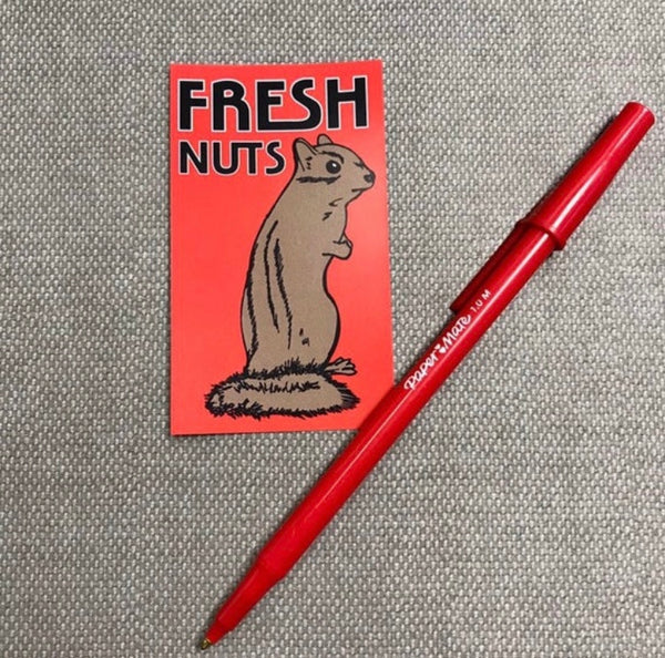 Fresh Nuts - Rectangular Vinyl Sticker