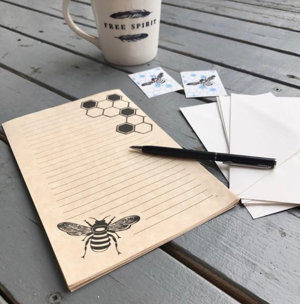 Bee/Honeycomb - PenPal Stationery Writing Set