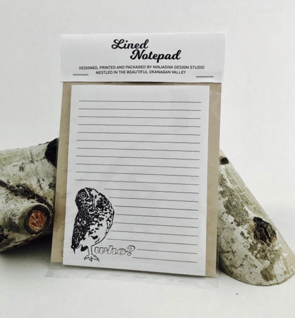 Burrowing Owl - Notepad