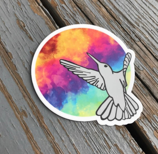 Hummingbird - Round Vinyl Sticker