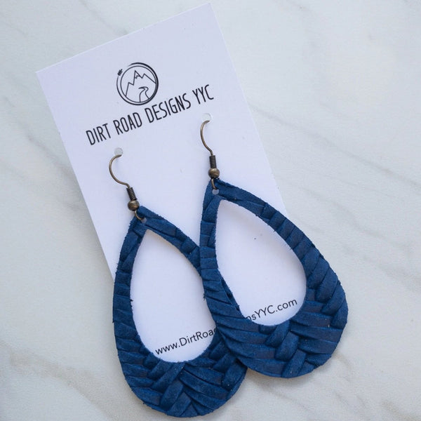 Textured Leather Cutout Earrings