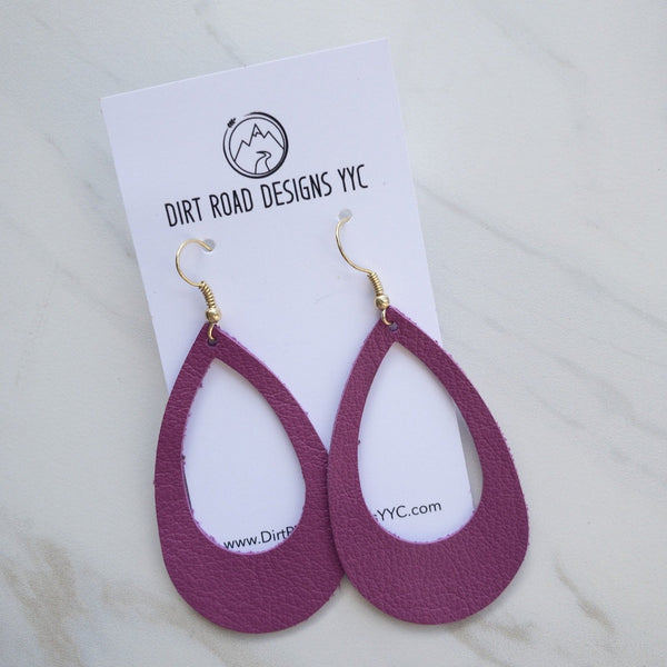 Leather Cutout Earrings