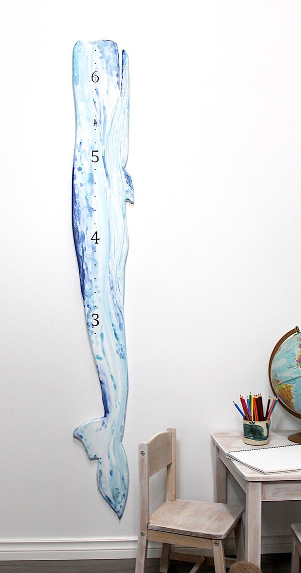 Whale ( watercolour) Growth Chart
