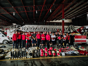 A team from Fireman's Faith Ministry donate gear to firefighters in Nicaragua.