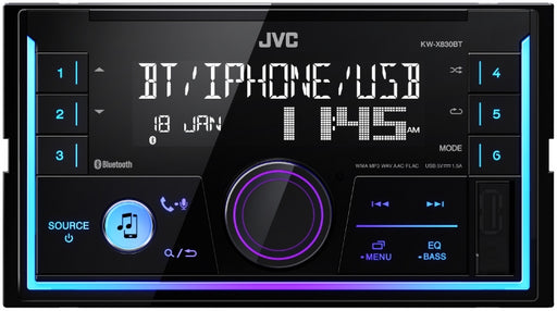 JVC KW-X830BT Double DIN Digital Media Receiver with Bluetooth(R) Wireless Technology and Front USB/AUX Input
