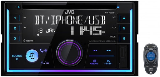JVC KW-R930BT Double DIN CD Receiver with Bluetooth(R) Wireless Technology and Front USB/AUX Input