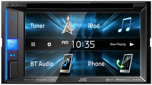 "JVC KW-V250BT Double DIN AV Multimedia Receiver with 6.2"" WVGA Clear Resistive Touch Monitor / Bluetooth / 13-Band EQ / JVC Remote App Compatibility"
