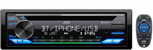 JVC KD-T912BT Single DIN CD Receiver with Bluetooth / USB / Spotify / FLAC / 13-Band EQ / JVC Remote App Compatibility
