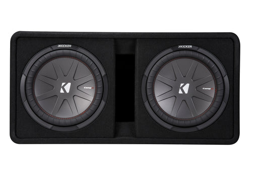 "Kicker 43DCWR122 CompR 43DCWR122 Dual 1000W 12"" Ported Enclosure (2Ω)"