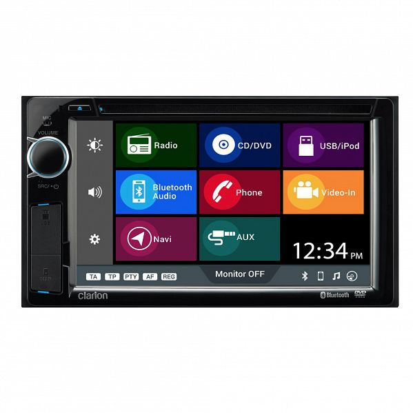 "Clarion NX387AU Double DIN 6.2"" AV Receiver with Navigation / Bluetooth / DVD / CD / USB / AUX / MP3 / WMA"