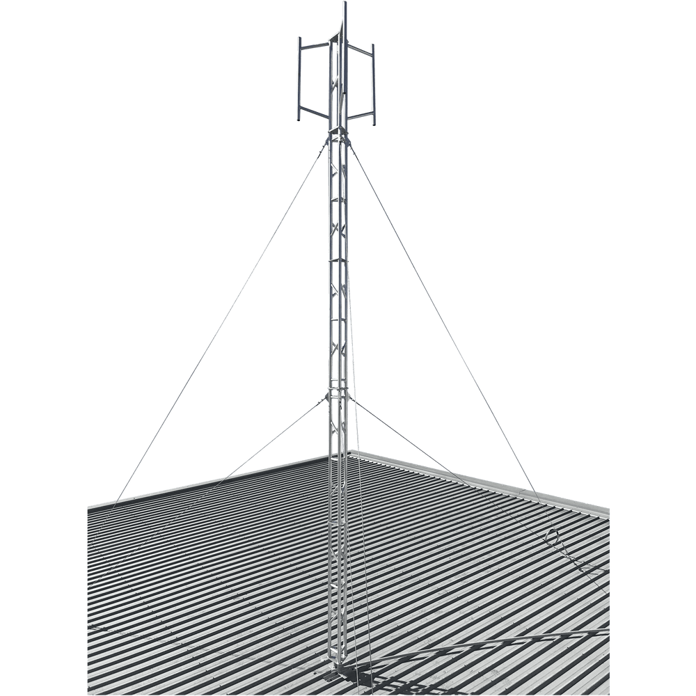 Blackhawk 220mm Aluminium Roof Mounted 12.7-metre Lattice Tower (Stainless Guyed)