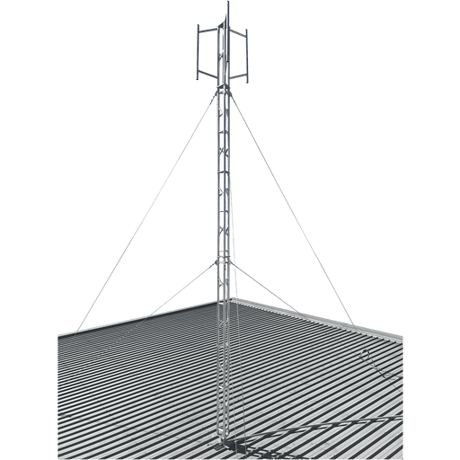 Blackhawk 220mm Aluminium Roof Mounted 18.9-metre Lattice Tower (Stainless Guyed)