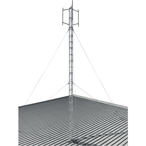 Blackhawk 220mm Aluminium Roof-mounted Lattice Tower (Galvanised Guyed) [6.5m Tower Height]