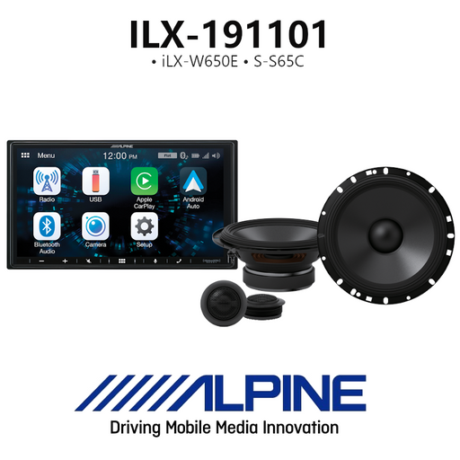 Alpine ILX-191101 iLX-W650E & S-Series Speakers S-Series Component System