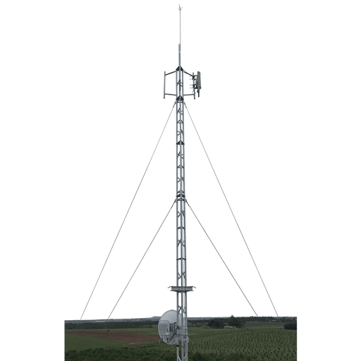 Blackhawk 220mm Aluminium Roof Mounted Lattice Tower (Galvanised Guyed | 18.9m Tower Height)