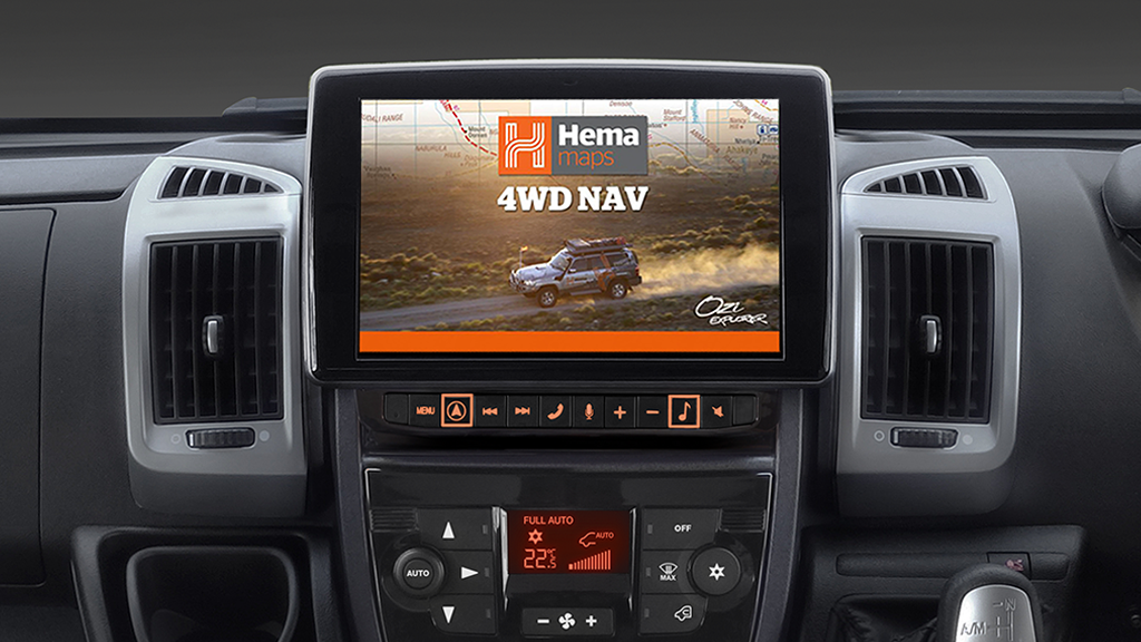"Alpine X902D-DU 9"" Primo 3.0 Navigation with Hema 4WD Off-Road Maps for Fiat Ducato"