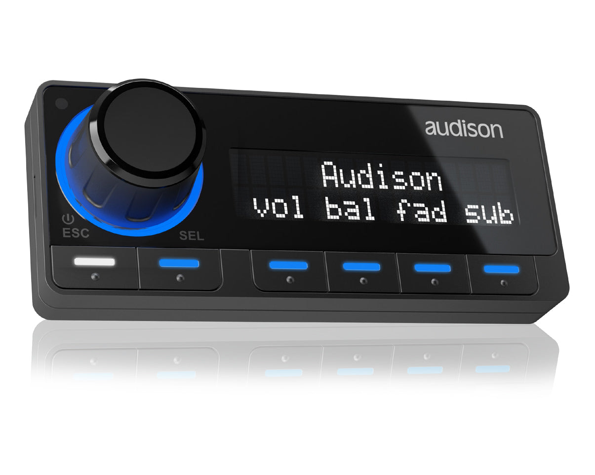 Audison DRCMP Digital Remote Control Media Player RGB Illumination (AC AD Link Compatible) - [Black]