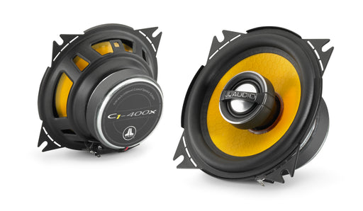 "JL Audio C1-400x Coaxial Speaker System: 4"" (100 mm) Woofer, 0.75"" (19 mm) Aluminium Dome Tweeter (Sold as pair)"